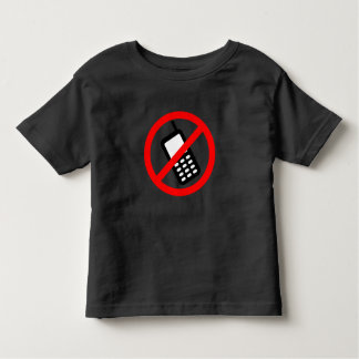 No Cell Phone Toddler T-shirt