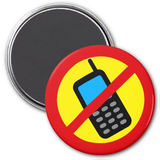 No Cell Phone Use Design Fridge Magnet
