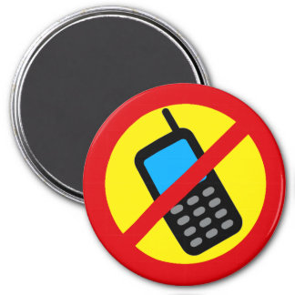 No Cell Phone Use Design Magnet