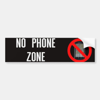 No Cell Phone Zone Bumper Sticker