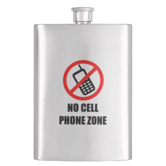 No Cell Phone Zone Flask