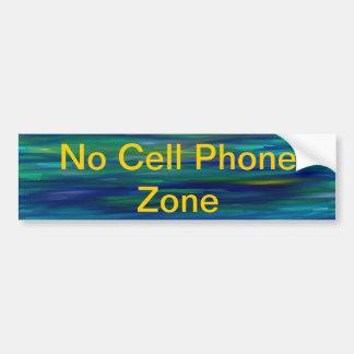 'no cell phone zone' sticker car bumper sticker