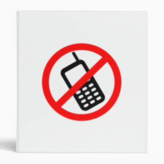 No Cell Phones 3 Ring Binders