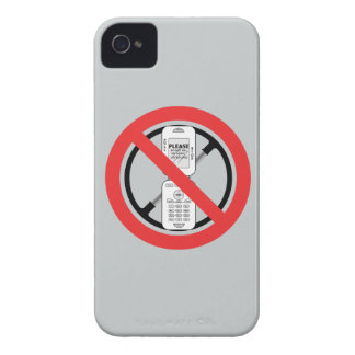 No Cell Phones iPhone 4 Case