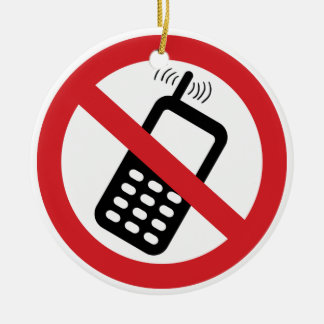 No Cell Phones Christmas Ornaments
