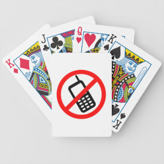 No Cell Phones Bicycle Poker Deck