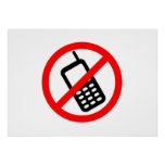 No Cell Phones Posters
