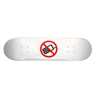 No Cell Phones Skateboard Deck