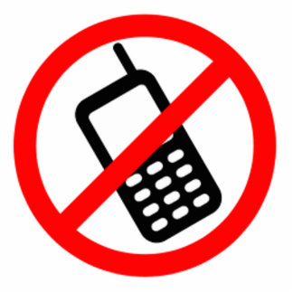 No Cell Phones Statuette