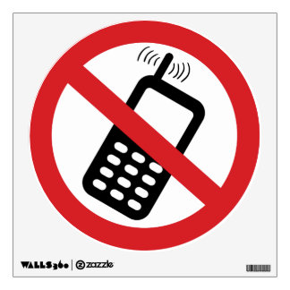 No Cell Phones Wall Decal