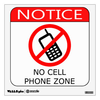 No Cell Phones Room Stickers