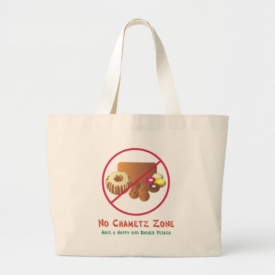 No Chametz Zone Large Tote Bag