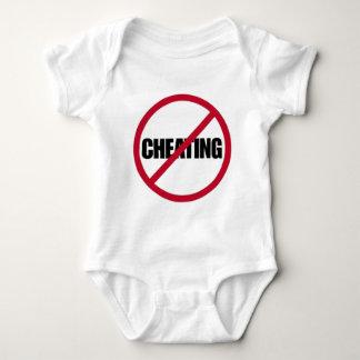 no cheating symbol baby bodysuit