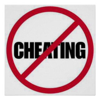 no cheating symbol poster