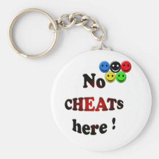 no cheats here keychain