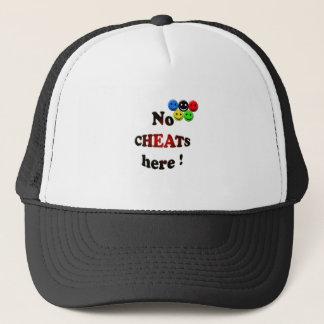 no cheats here trucker hat