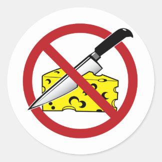 No Cheese Cutting Zone Classic Round Sticker