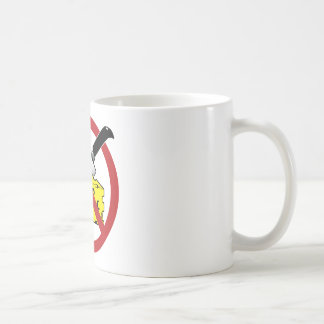 No Cheese Cutting Zone Coffee Mug