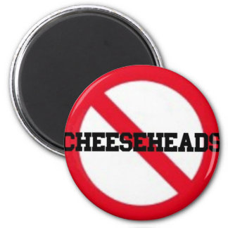 No Cheeseheads magnet