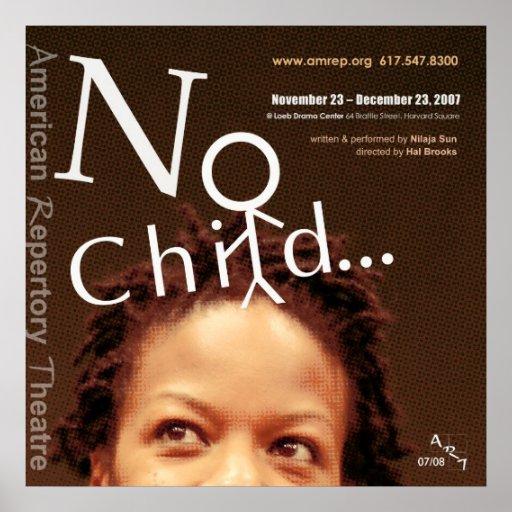 no child30x30 2 poster