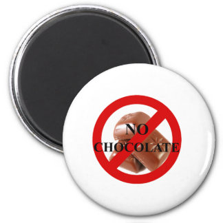 No chocolate 2 inch round magnet