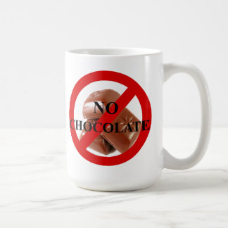 No chocolate coffee mug