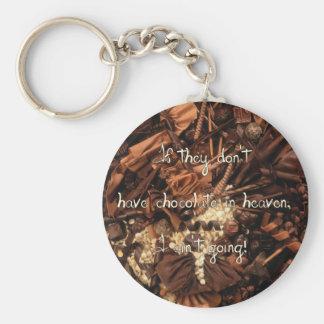No Chocolate in Heaven Keychain