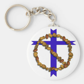 No Christian Nuts Basic Round Button Keychain
