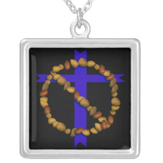 No Christian Nuts Square Pendant Necklace
