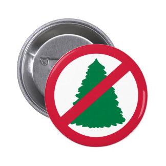 No christmas fir tree pinback button