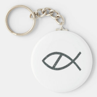 No Chromefishtians Basic Round Button Keychain