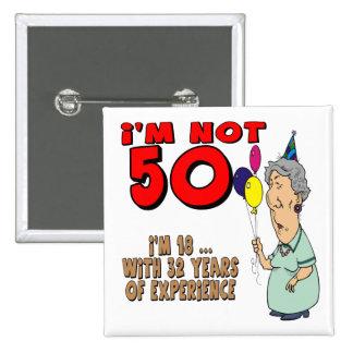 No cincuenta 50 os regalos de cumpleaños pin