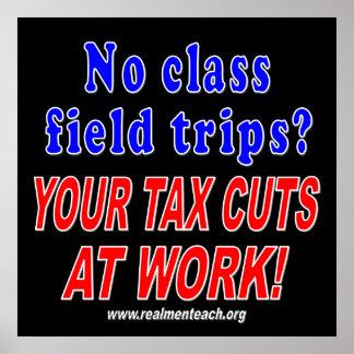 No class field trips (black) posters