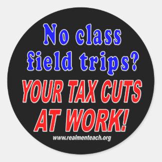 No class field trips (black) stickers