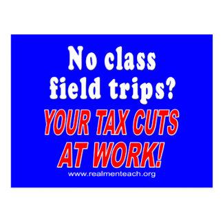 No class field trips blue postcards