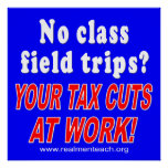 No class field trips (blue) print