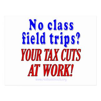 No class field trips postcards
