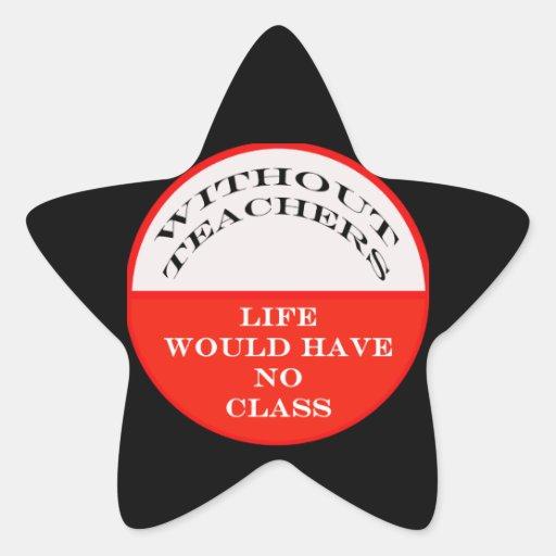 No Class Star Sticker