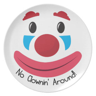 No Clownin Dinner Plate