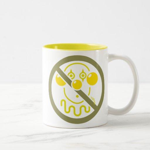 No Clowns - Lemon Yellow Mug
