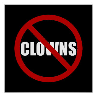 No Clowns Poster