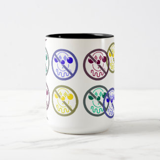 No Clowns - Tutti Frutti Two-Tone Coffee Mug