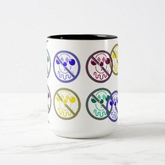 No Clowns - Tutti Frutti Two-Tone Coffee Mug