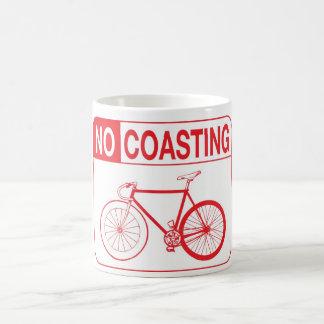 NO COASTING CLASSIC WHITE COFFEE MUG