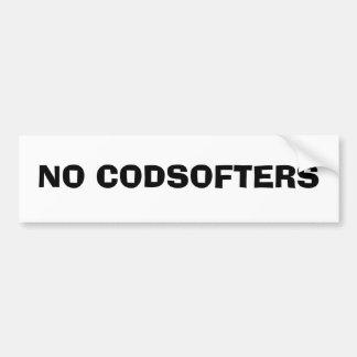 No codsofters! bumper sticker