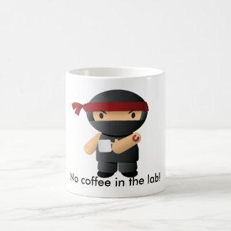 No coffee in the lab, Giga ninja! Classic White Coffee Mug