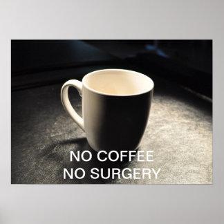 NO COFFEE NO SURGERY POSTER
