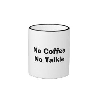 No Coffee No Talkie Ringer Coffee Mug