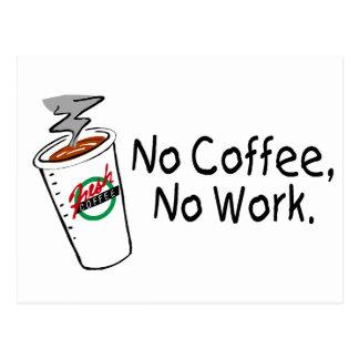 No Coffee No Work Postcard