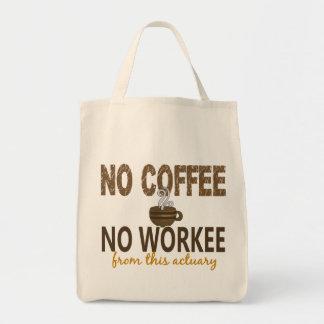 No Coffee No Workee Actuary Tote Bag